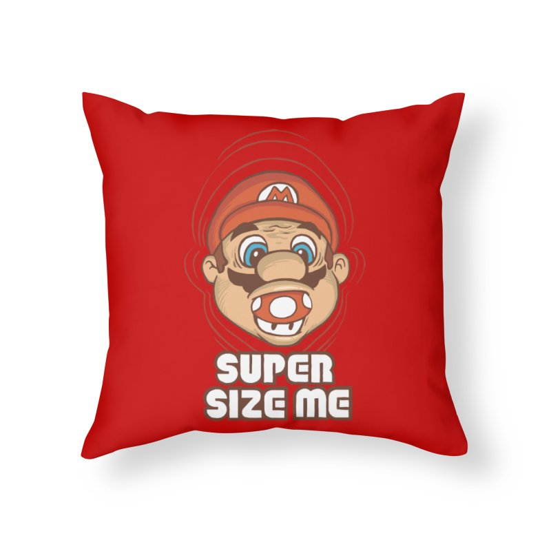 Super Size Me Home Throw Pillow by thosoe's Artist Shop