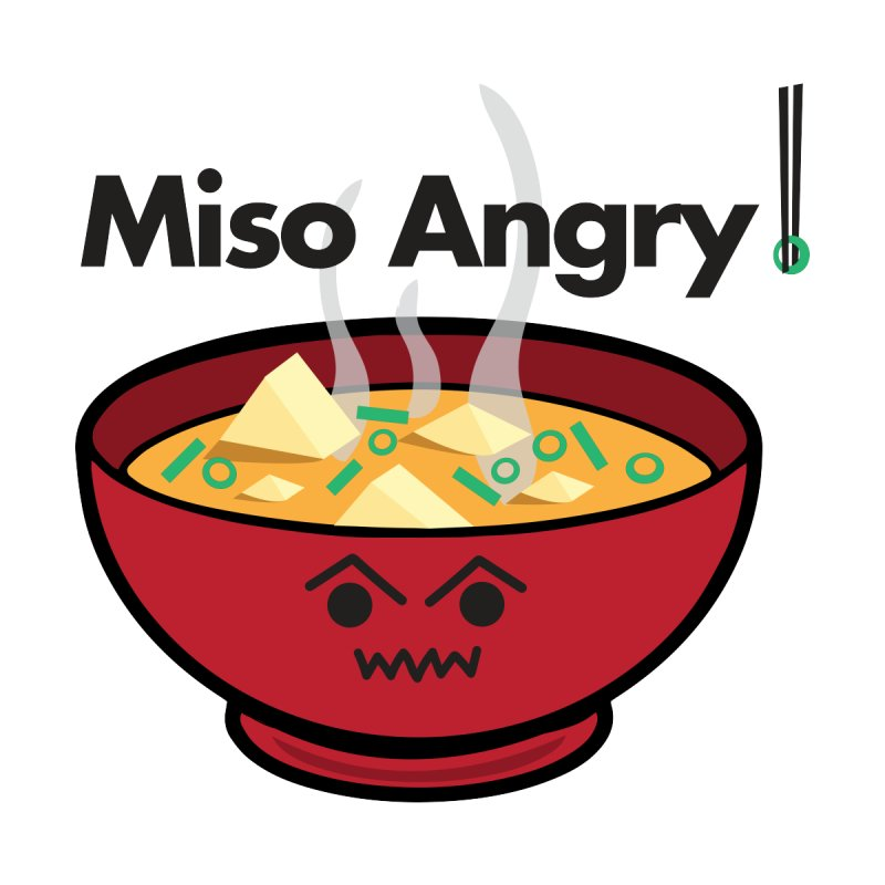 Miso Angry by threadgood's Shop