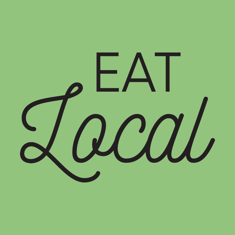 Eat Local Foodie Chef TShirt by threadgood's Shop