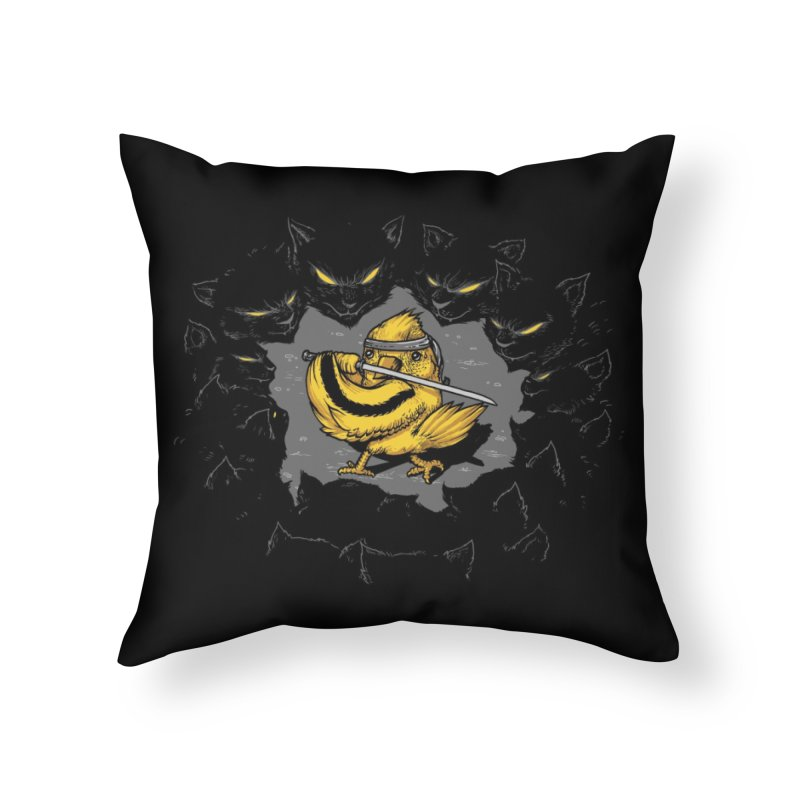 Kill Bird Home Throw Pillow by Threadless Artist Shop