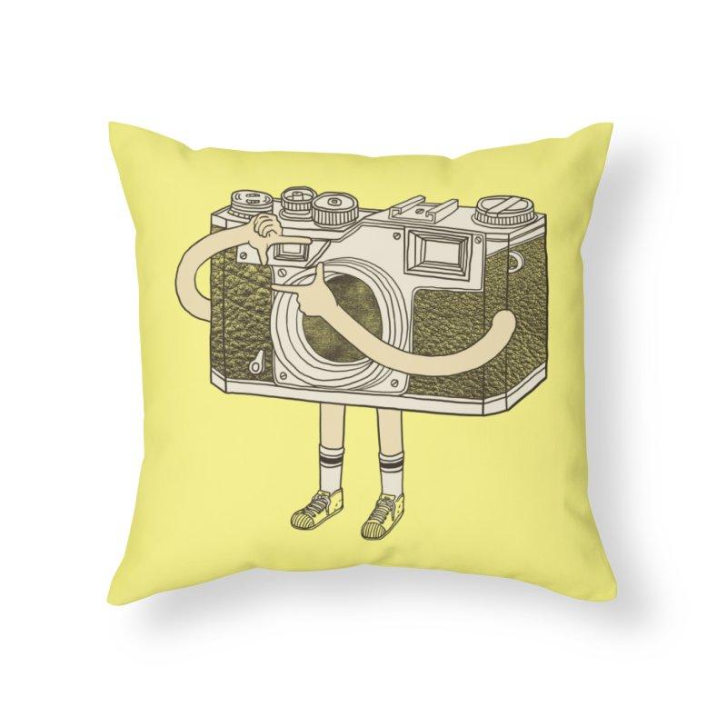 Photographer Home Throw Pillow by Threadless Artist Shop