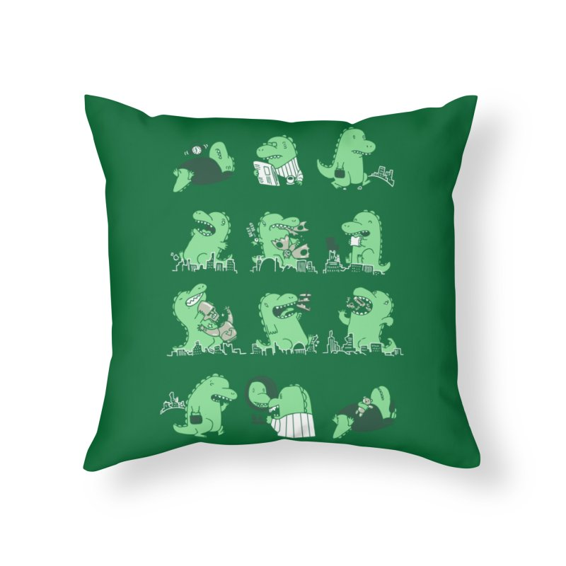 A Day in the Life Home Throw Pillow by Threadless Artist Shop