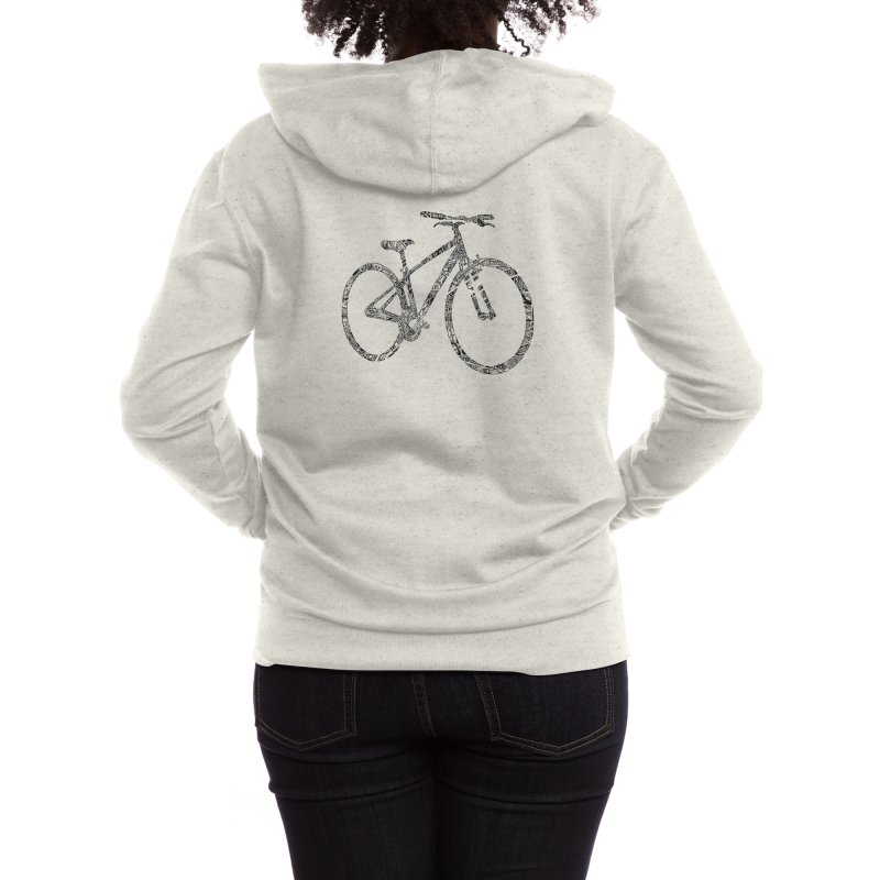 Mapped Out: DTG Women's Zip-Up Hoody by Threadless Artist Shop