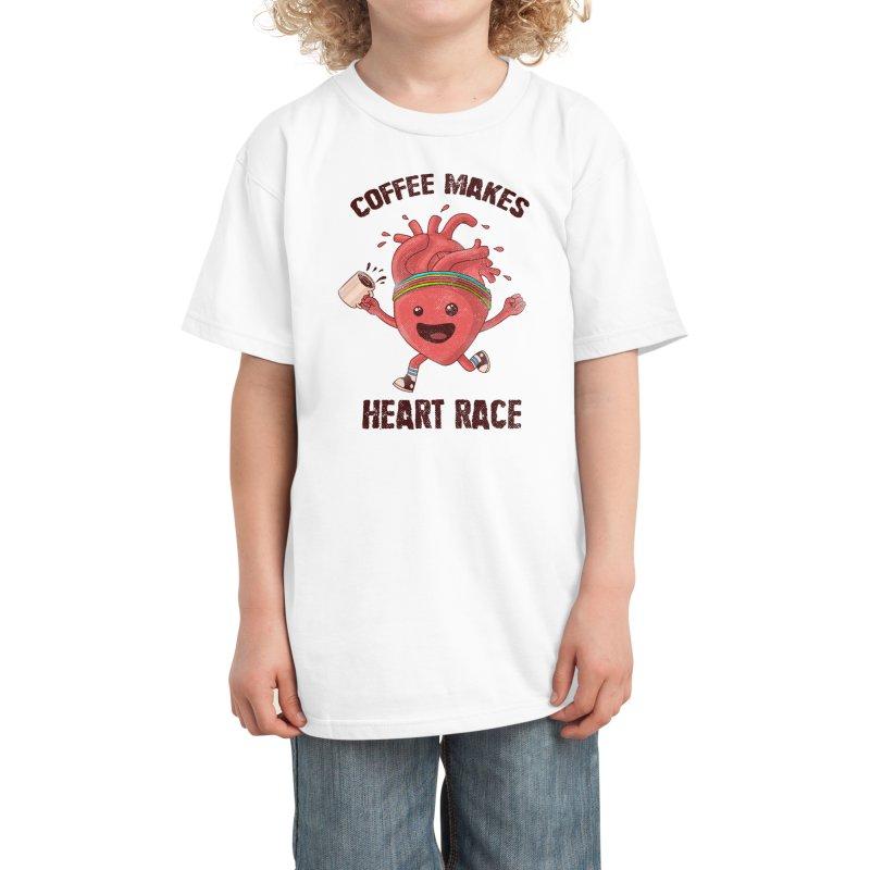 HEART RACE Kids T-Shirt by Threadless Artist Shop
