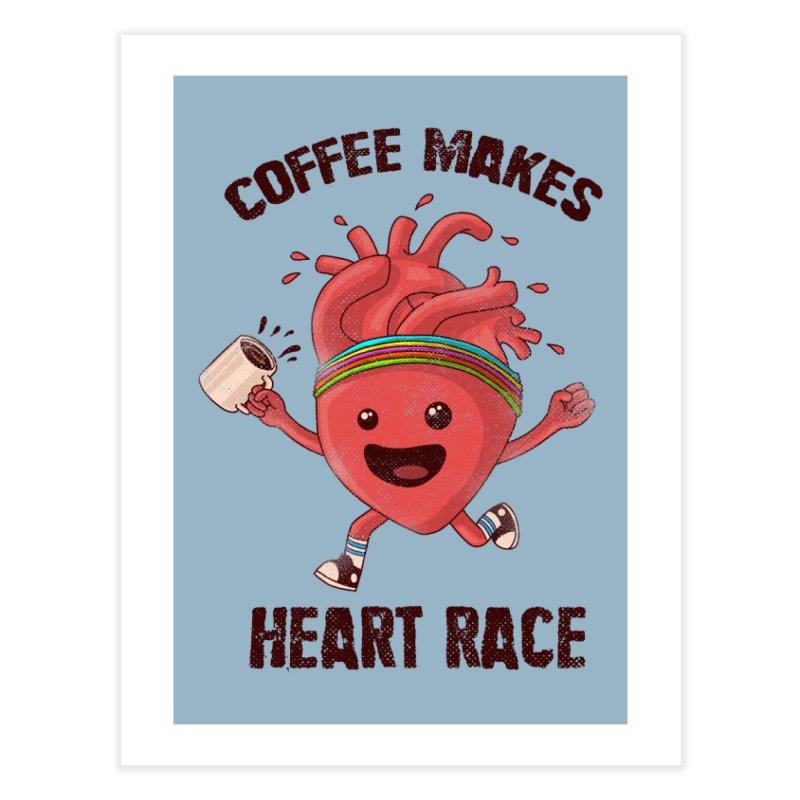HEART RACE Home Fine Art Print by Threadless Artist Shop