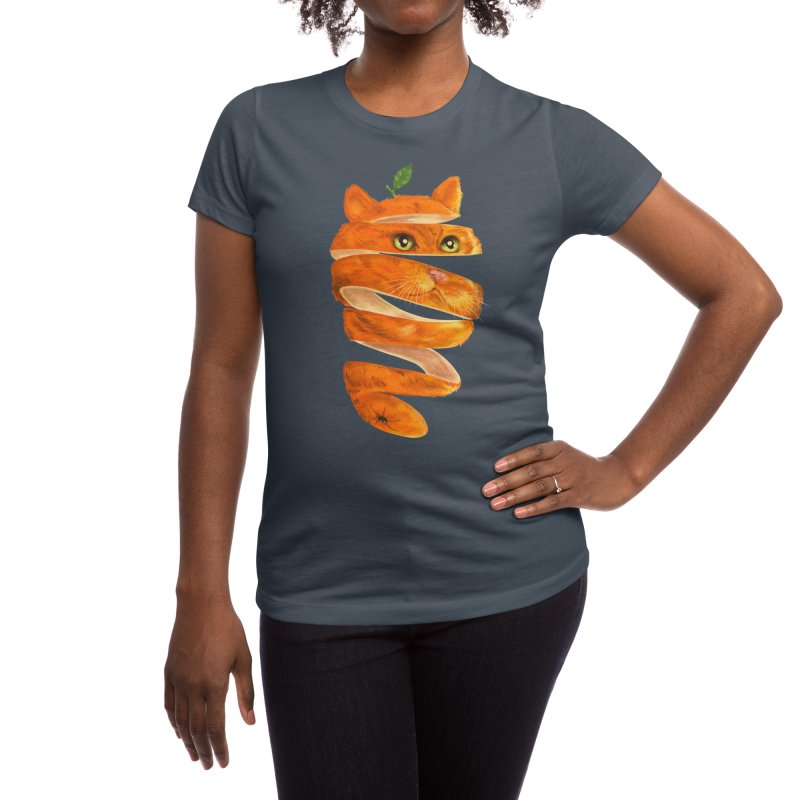 Orange Cat Women's T-Shirt by Threadless Artist Shop