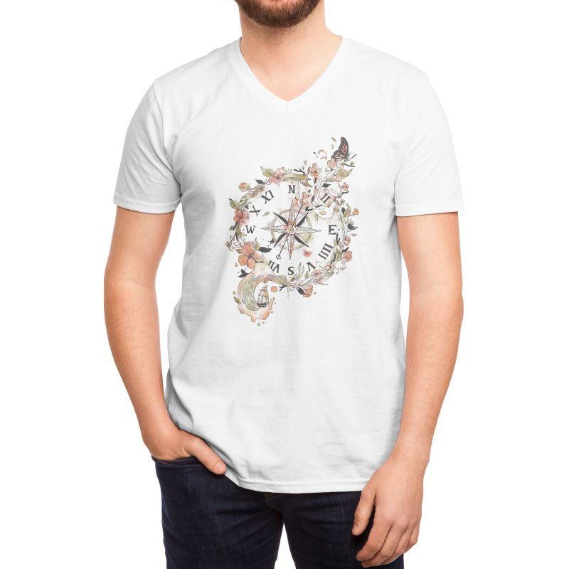 Au Revoir Men's V-Neck by Threadless Artist Shop