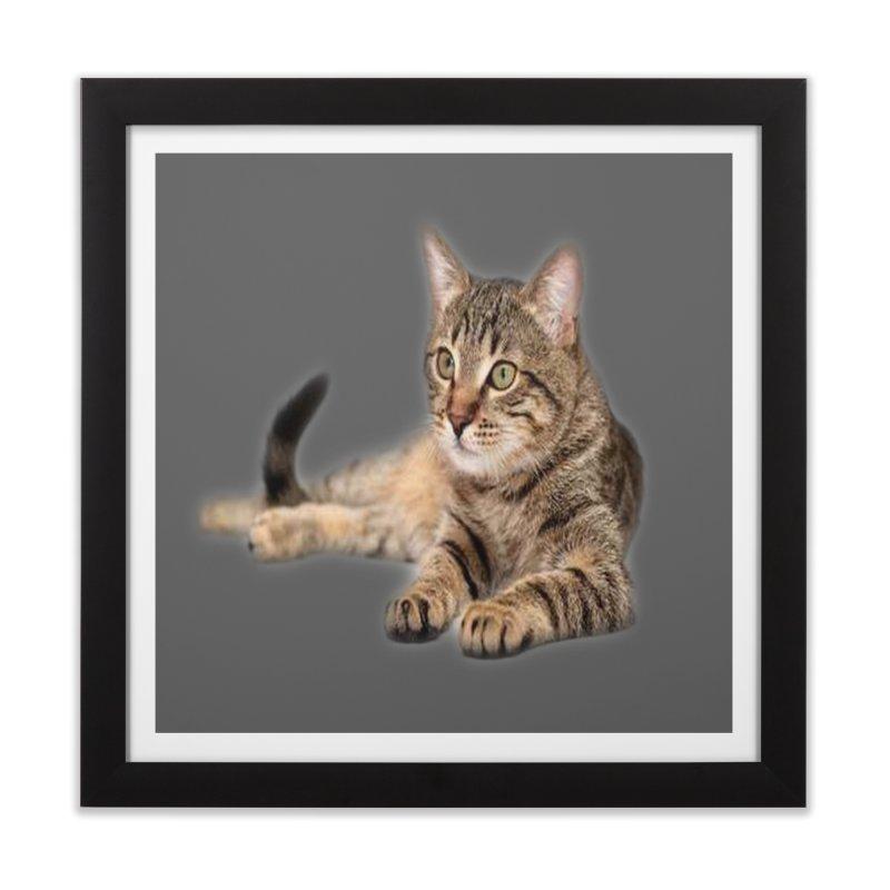 Cat Home Framed Fine Art Print by Threadless Artist Shop