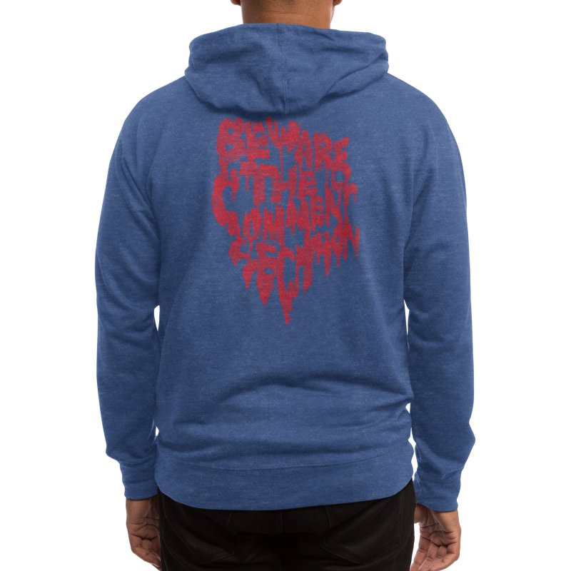 Beware the comment section Men's Zip-Up Hoody by Threadless Artist Shop