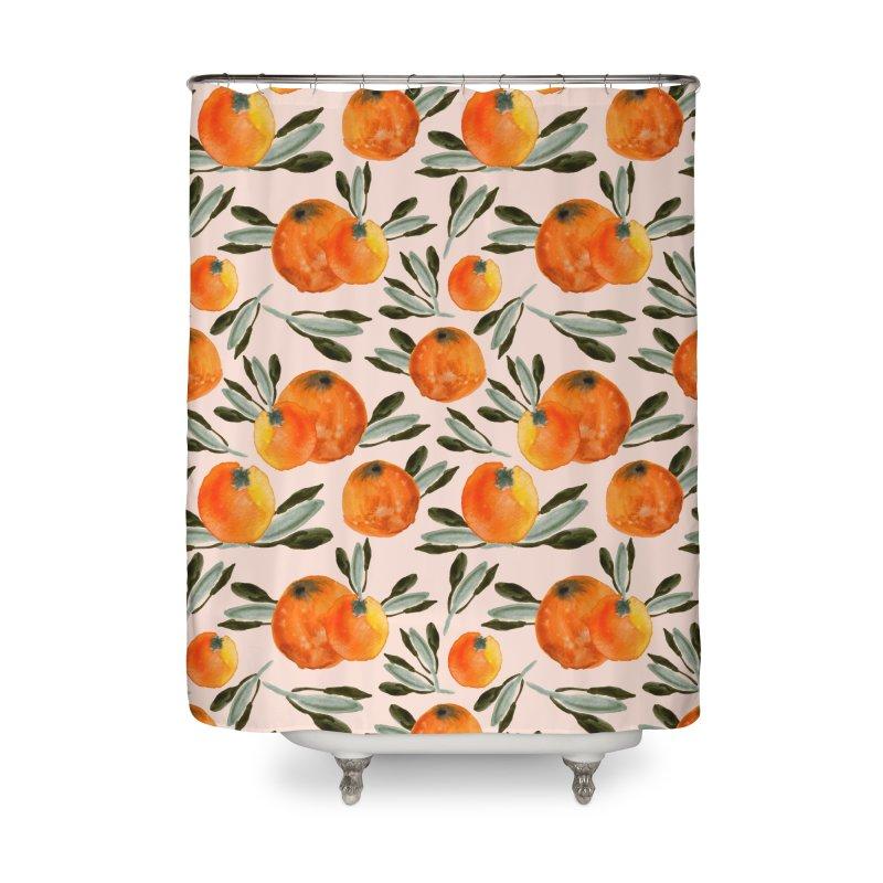 Sonnige Orange Home Shower Curtain by Threadless Artist Shop