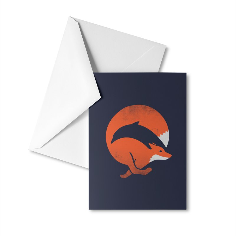 Dolphox Accessories Greeting Card by Threadless Artist Shop
