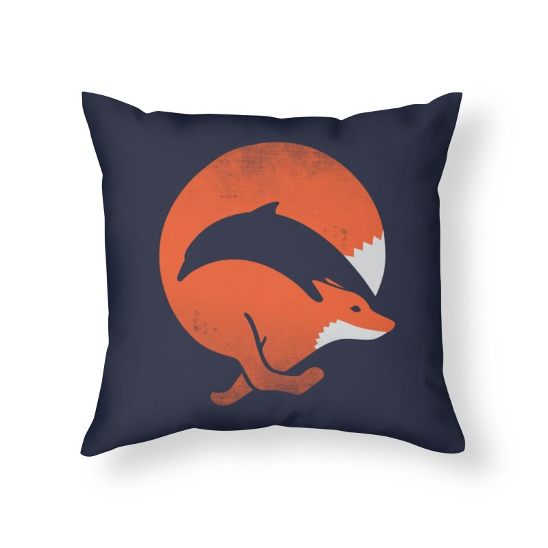 Dolphox Home Throw Pillow by Threadless Artist Shop