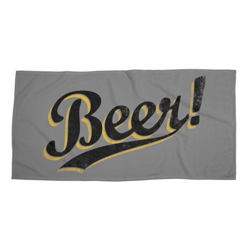 Beer! Accessories Beach Towel by Threadless Artist Shop