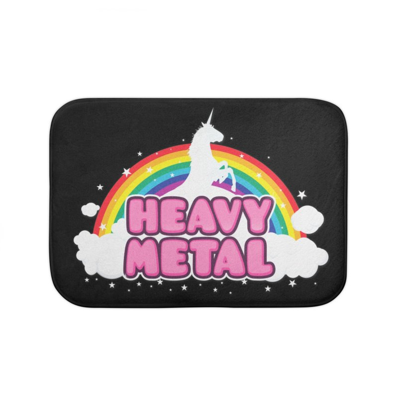 HEAVY METAL! Home Bath Mat by Threadless Artist Shop