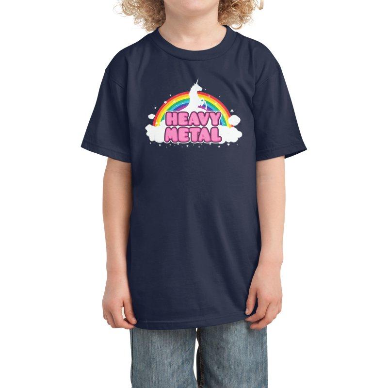 HEAVY METAL! Kids T-Shirt by Threadless Artist Shop