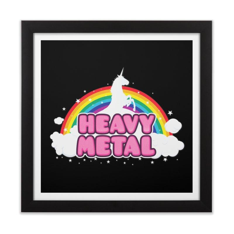 HEAVY METAL! Home Framed Fine Art Print by Threadless Artist Shop