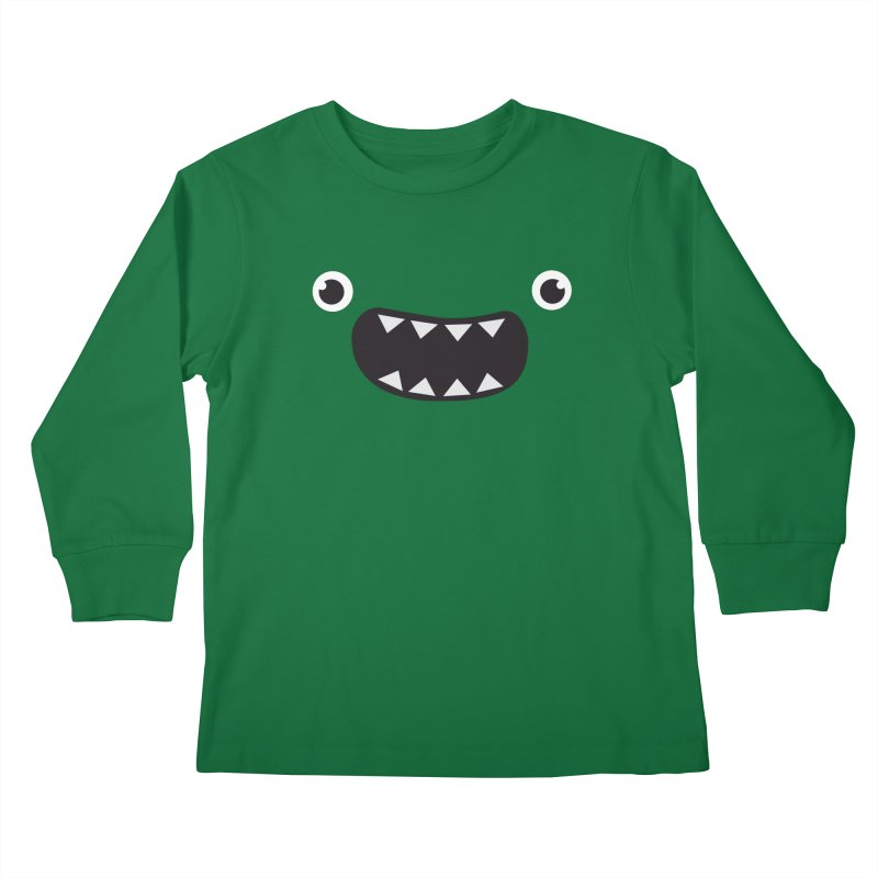 Om nom nom! Kids Longsleeve T-Shirt by Threadless Artist Shop