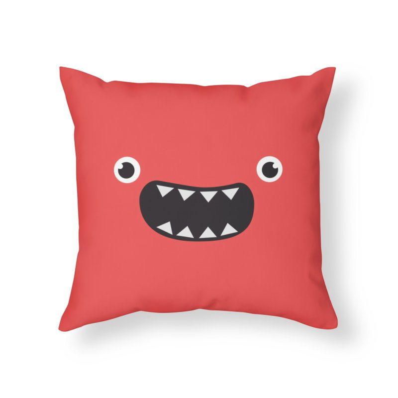Om nom nom! Home Throw Pillow by Threadless Artist Shop