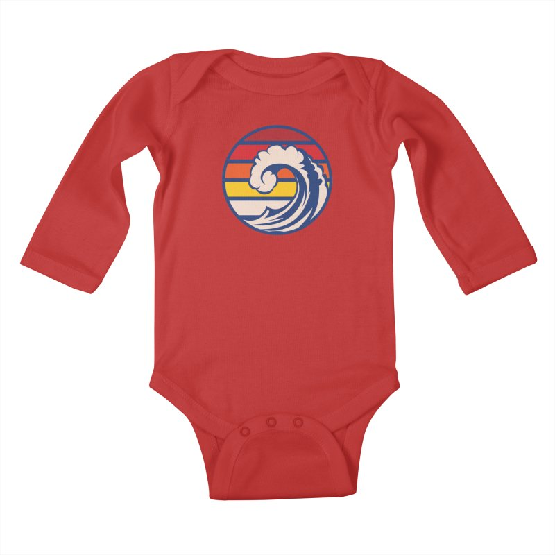 Ride the Wave Kids Baby Longsleeve Bodysuit by Threadless Artist Shop