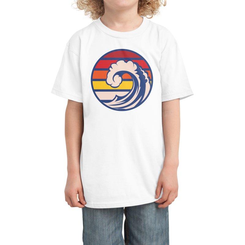 Ride the Wave Kids T-Shirt by Threadless Artist Shop