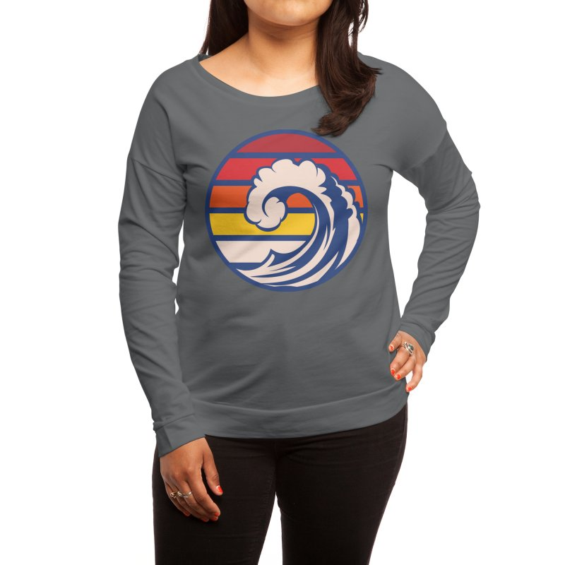 Ride the Wave Women's Longsleeve T-Shirt by Threadless Artist Shop