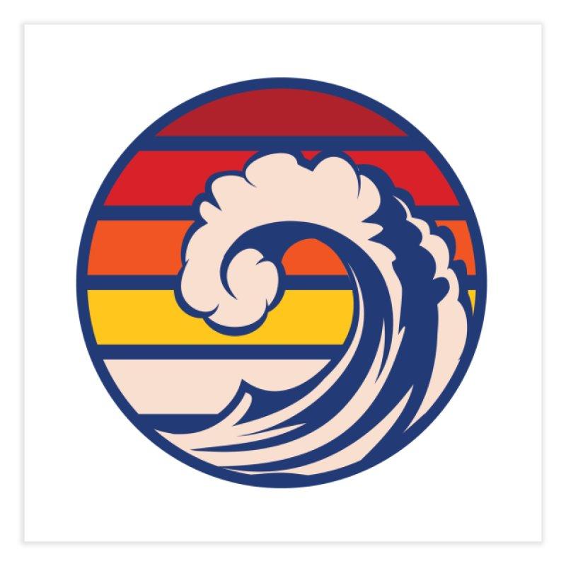 Ride the Wave Home Fine Art Print by Threadless Artist Shop