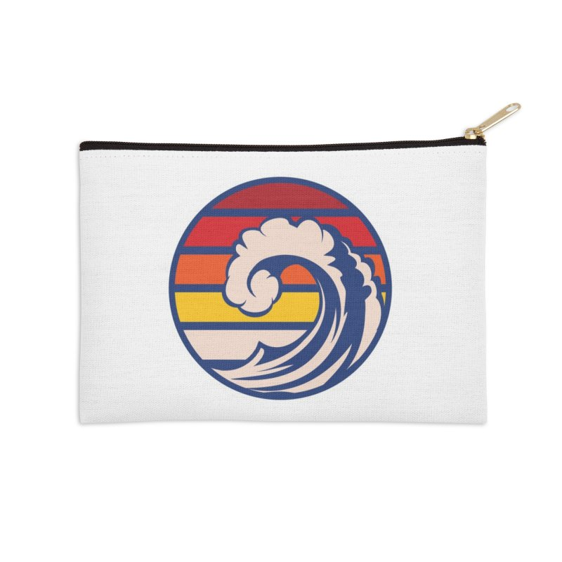 Ride the Wave Accessories Zip Pouch by Threadless Artist Shop