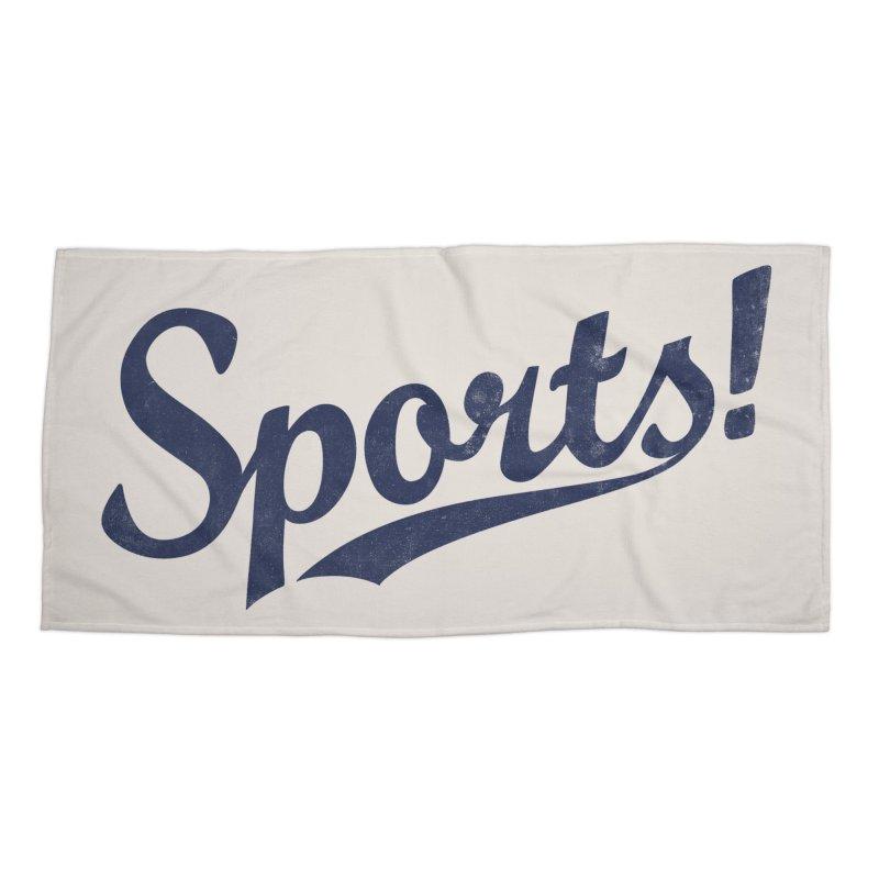 Sports! Accessories Beach Towel by Threadless Artist Shop