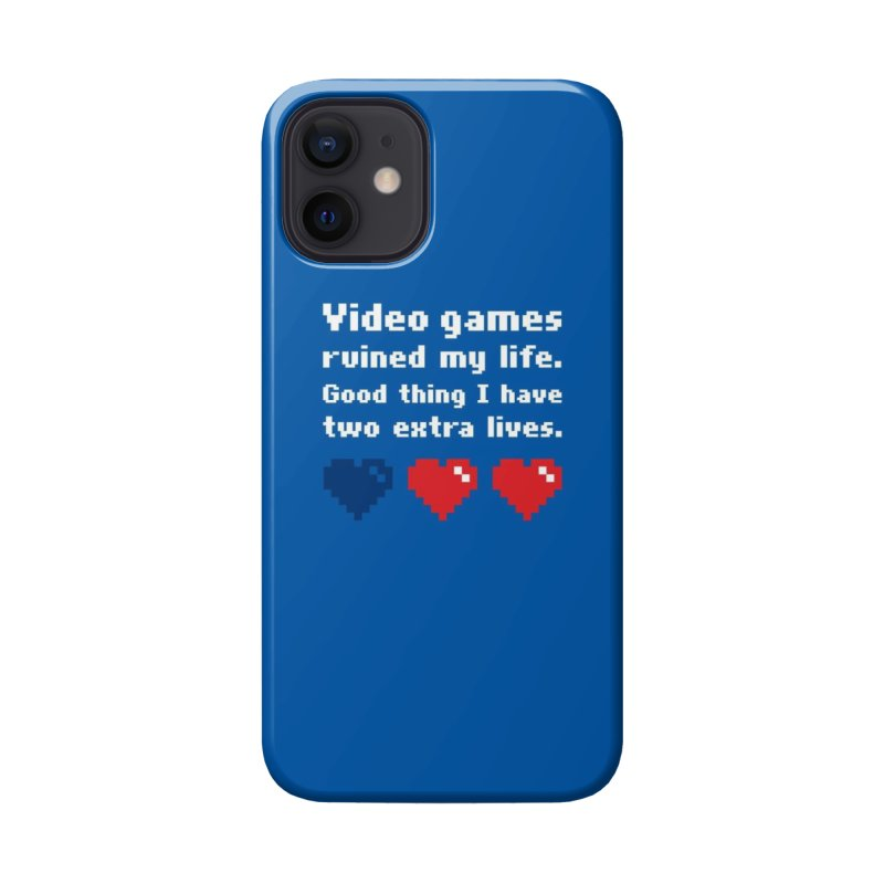 Video Games Ruined My Life... Two Extra Lives. Accessories Phone Case by Threadless Artist Shop