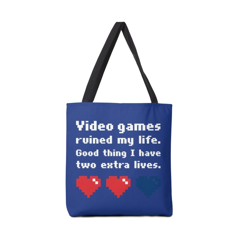 Video Games Ruined My Life... Two Extra Lives. Accessories Bag by Threadless Artist Shop