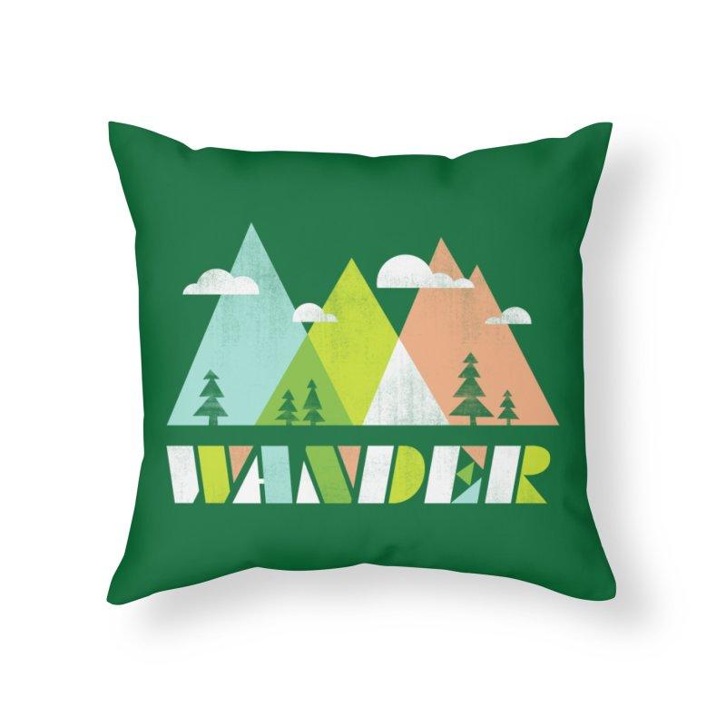 Wander Home Throw Pillow by Threadless Artist Shop