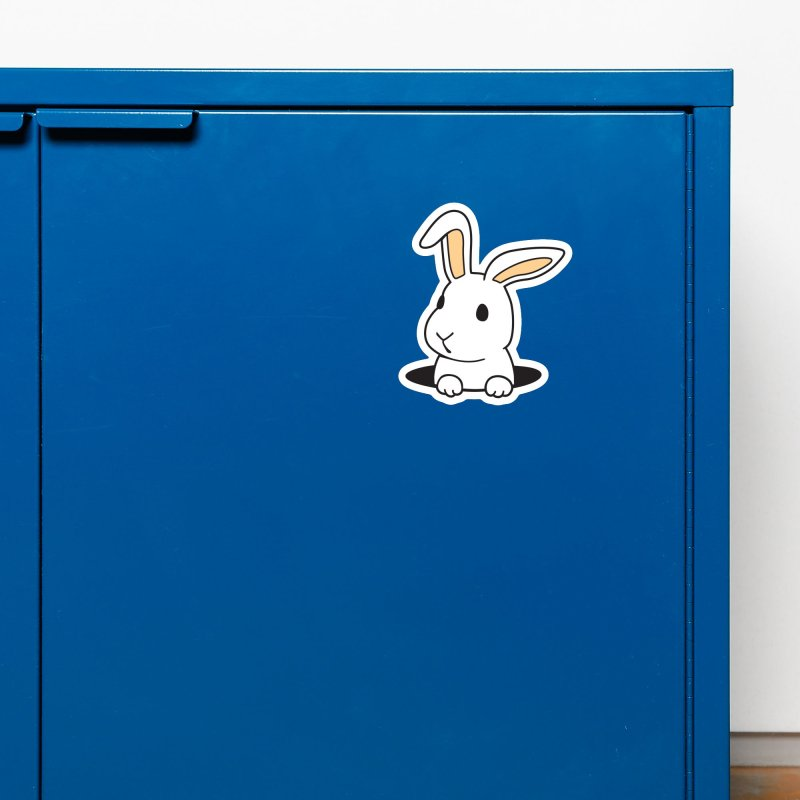 Rabbit Hole Accessories Magnet by Threadless Artist Shop