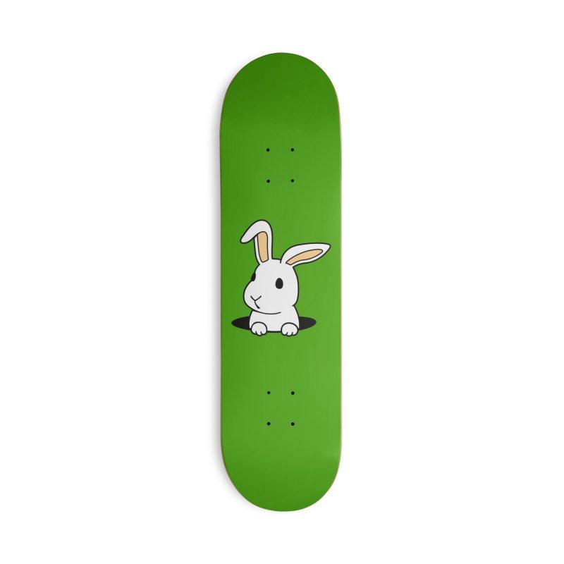 Rabbit Hole Accessories Skateboard by Threadless Artist Shop