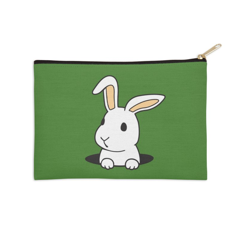 Rabbit Hole Accessories Zip Pouch by Threadless Artist Shop