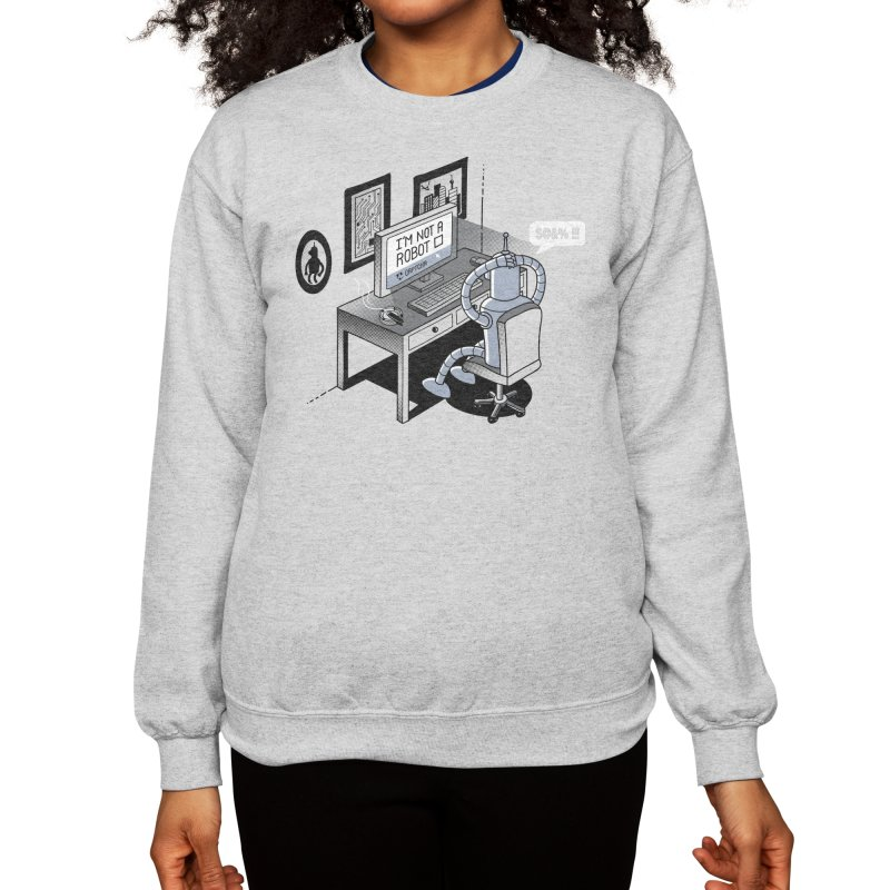 Robot Problems Women's Sweatshirt by Threadless Artist Shop