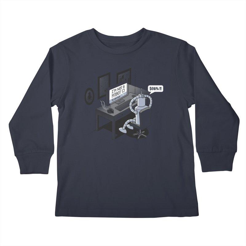 Robot Problems Kids Longsleeve T-Shirt by Threadless Artist Shop