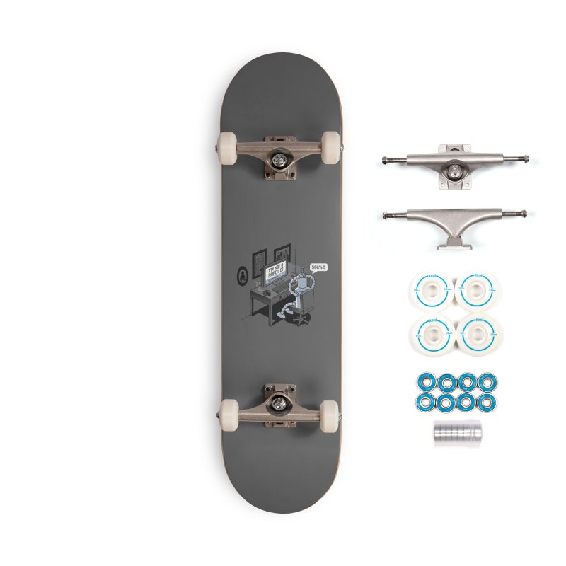 Robot Problems Accessories Skateboard by Threadless Artist Shop