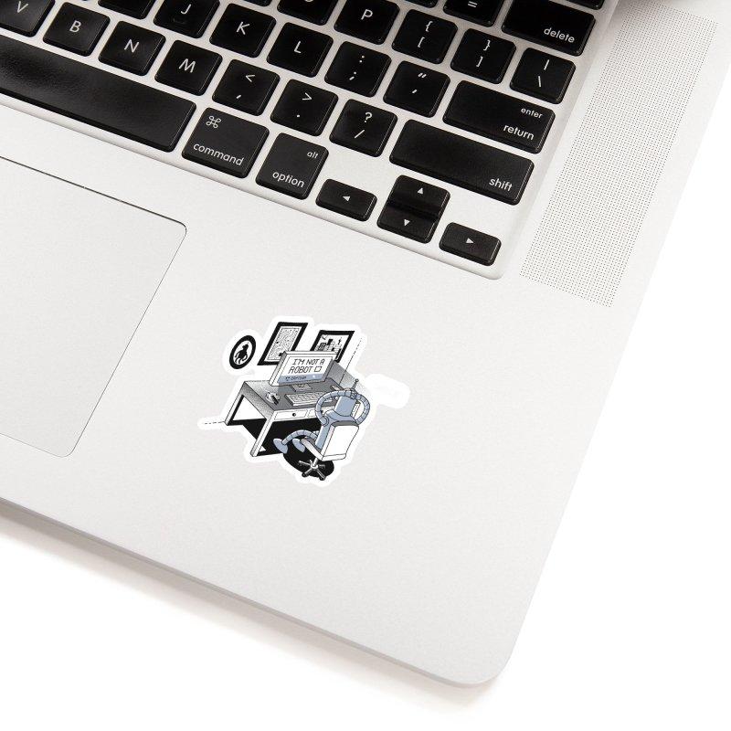 Robot Problems Accessories Sticker by Threadless Artist Shop