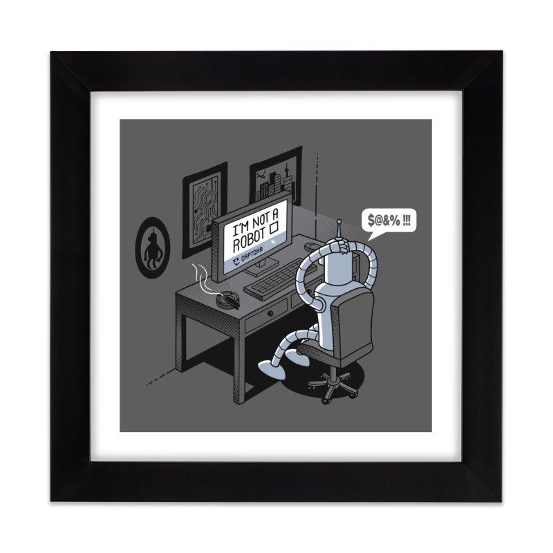 Robot Problems Home Framed Fine Art Print by Threadless Artist Shop