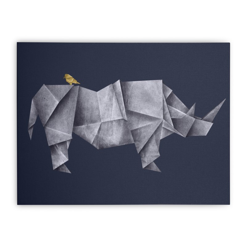 Rhinogami Home Stretched Canvas by Threadless Artist Shop