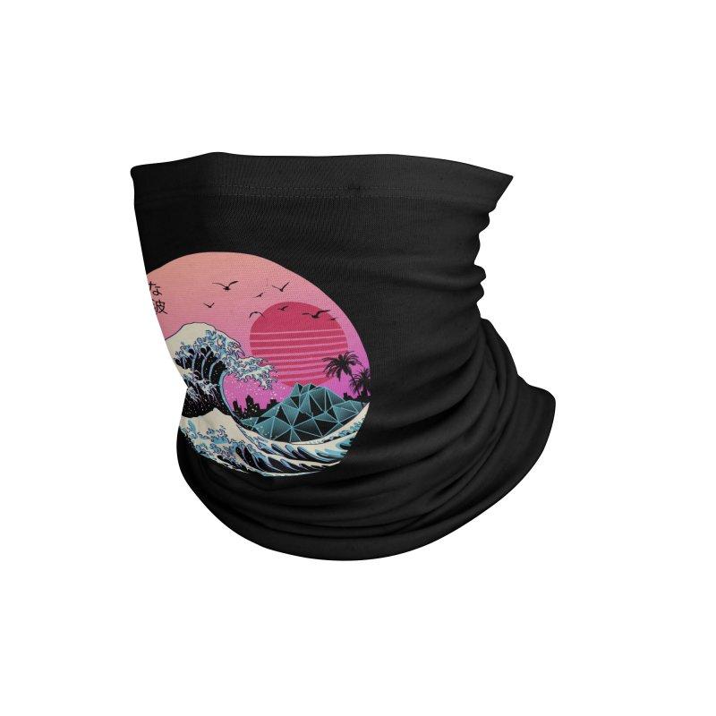 The Great Retro Wave Accessories Neck Gaiter by Threadless Artist Shop