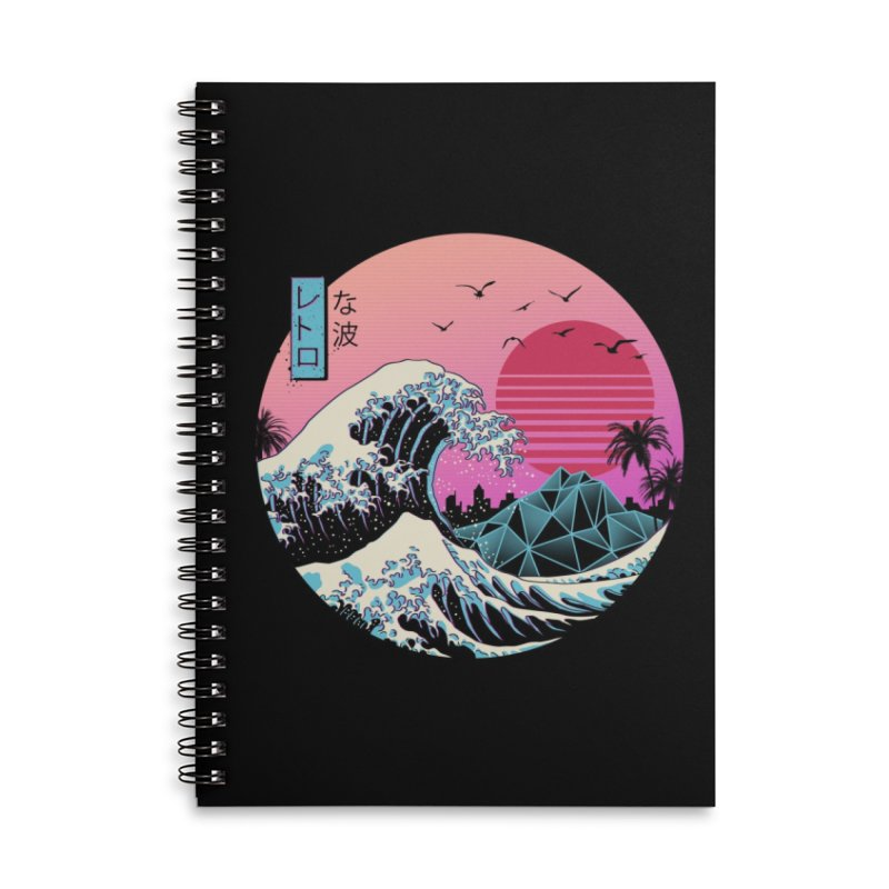 The Great Retro Wave Accessories Notebook by Threadless Artist Shop