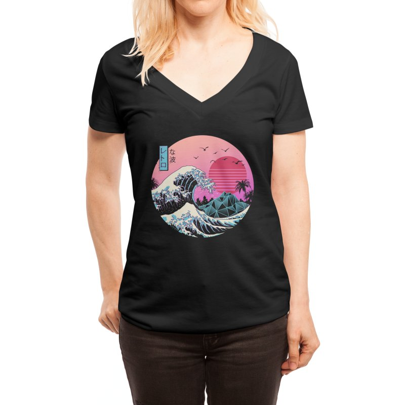 The Great Retro Wave Women's V-Neck by Threadless Artist Shop