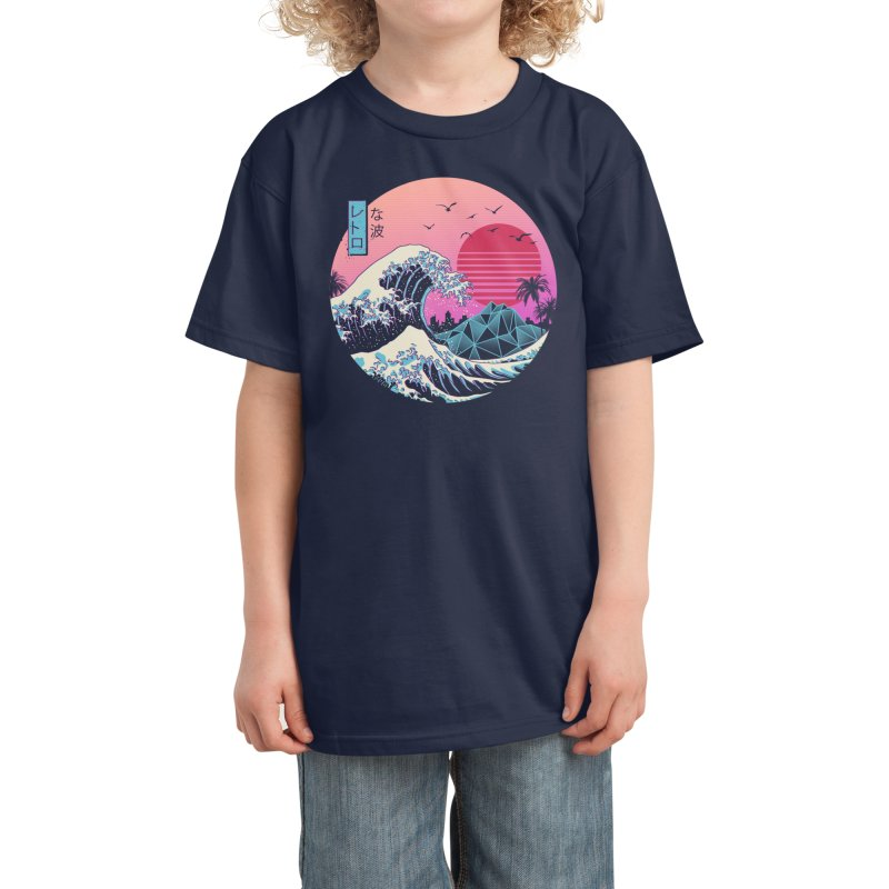 The Great Retro Wave Kids T-Shirt by Threadless Artist Shop