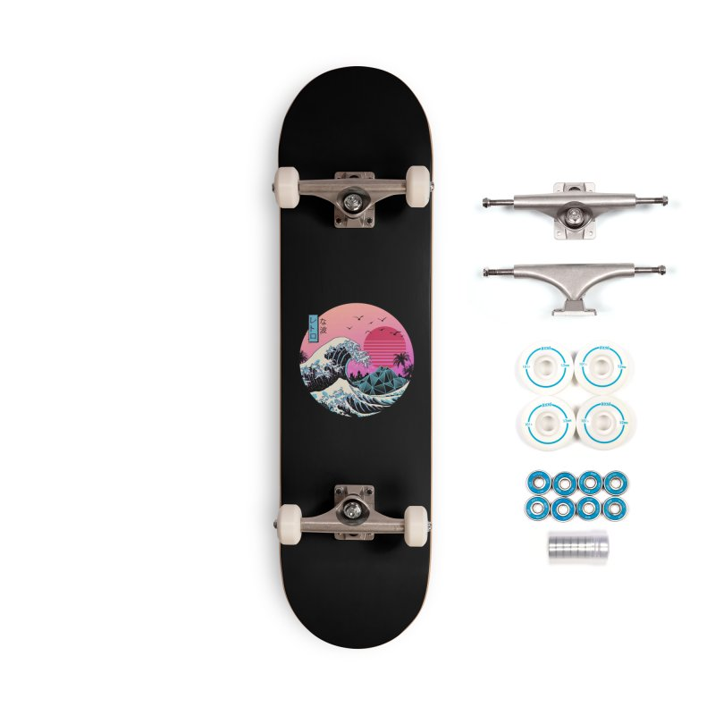 The Great Retro Wave Accessories Skateboard by Threadless Artist Shop