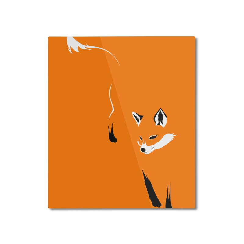 Foxy Home Mounted Aluminum Print by Threadless Artist Shop