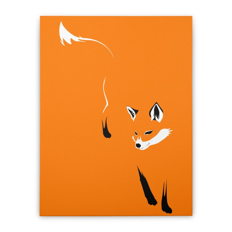 Foxy Home Stretched Canvas by Threadless Artist Shop