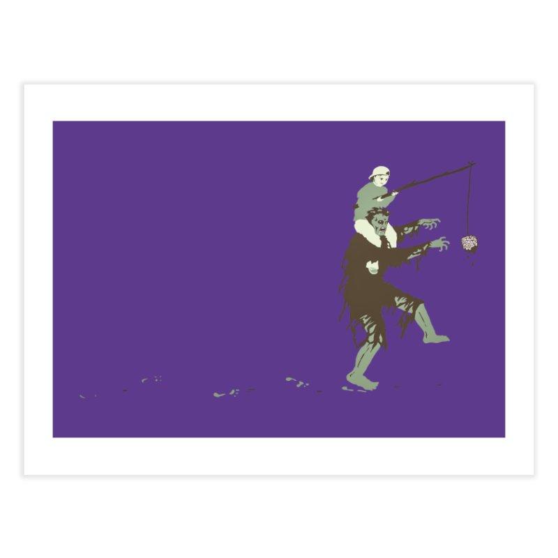 Zombie Donkey Home Fine Art Print by Threadless Artist Shop