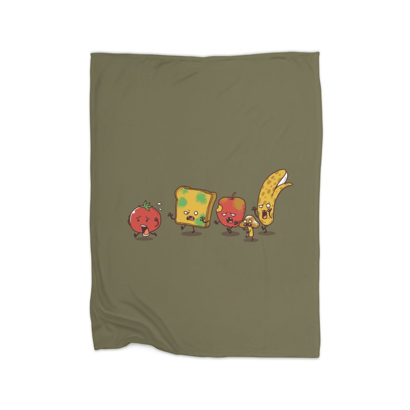 Zombie Food Home Blanket by Threadless Artist Shop