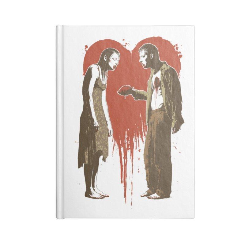 Zombie Romance Accessories Notebook by Threadless Artist Shop